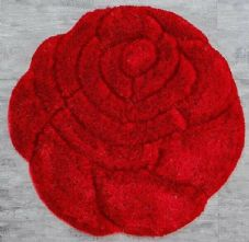 Area Rug Home 3D Roses Design Sparkle Living Room Bedroom Floor Mat New Nice Red